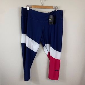 Nike Colorblock Power Crop Tights Plus Size 2x